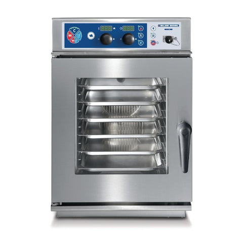 Blue Seal by Moffat S Line Ec623Csdw 6 Tray Electric Compact Combi-Steamer Oven Fully Automatic Wash System