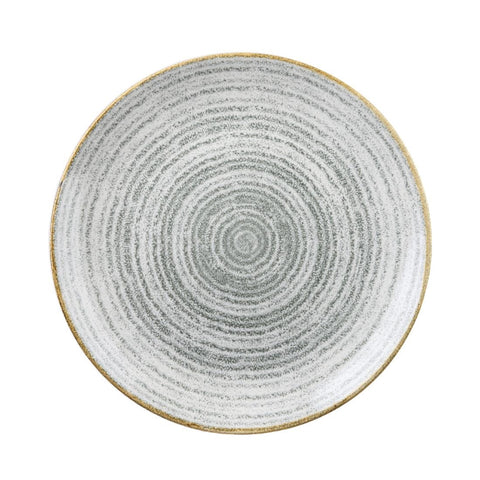 Churchill Studio Prints Homespun Stone Grey Coupe Plate 288mm (Pack of 12)