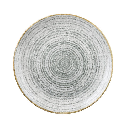 Churchill Studio Prints Homespun Stone Grey Coupe Plate 260mm (Pack of 12)