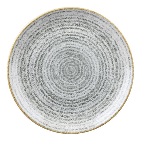 Churchill Studio Prints Homespun Stone Grey Coupe Plate 217mm (Pack of 12)