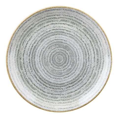 Churchill Studio Prints Homespun Stone Grey Coupe Plate 165mm (Pack of 12)