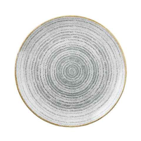 Churchill Studio Prints Homespun Stone Grey Coupe Plate 182mm (Pack of 12)