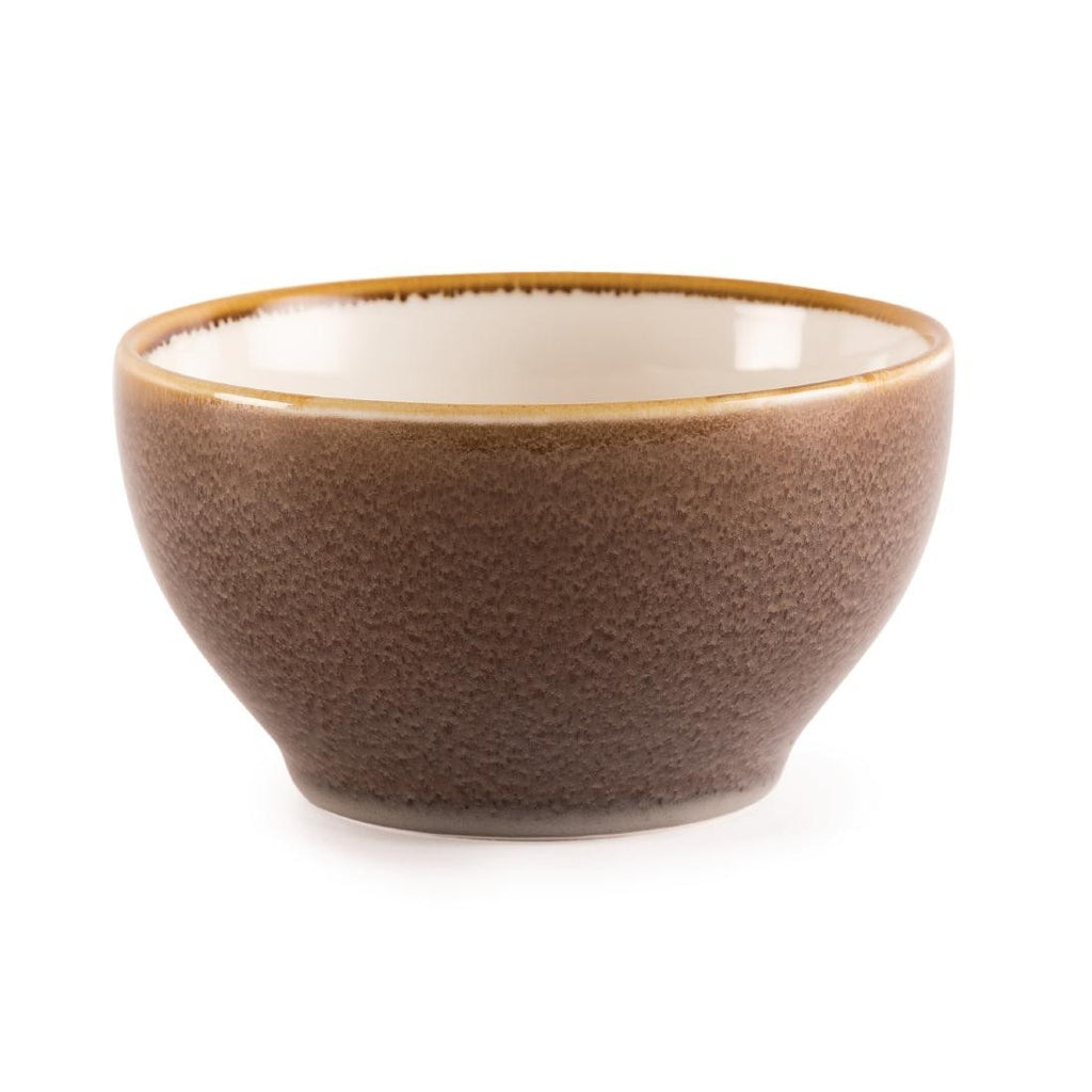 Olympia Kiln Bowl Bark 140mm (Pack of 6)
