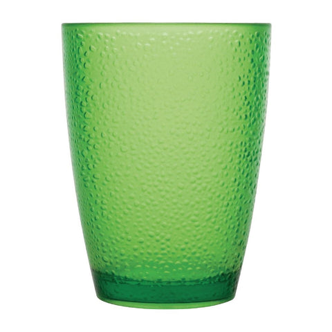 Kristallon Polycarbonate Tumbler Pebbled Green 275ml (Pack of 6)