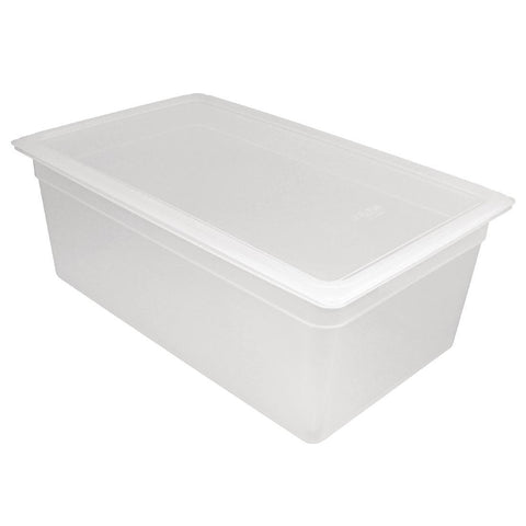 Vogue Polypropylene Gastronorm Pan 1/1 with Lid 200mm (Pack of 2)