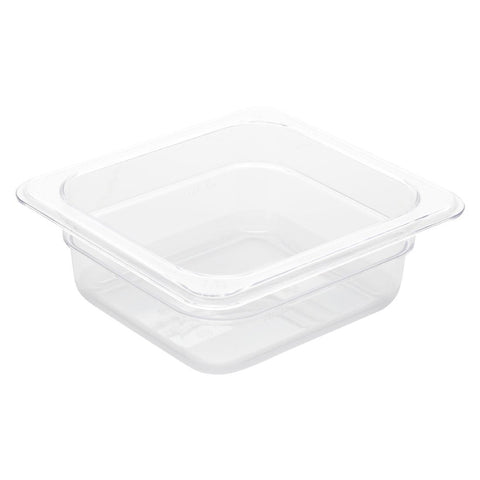 Vogue Polycarbonate 1/6 Gastronorm Container 65mm Clear