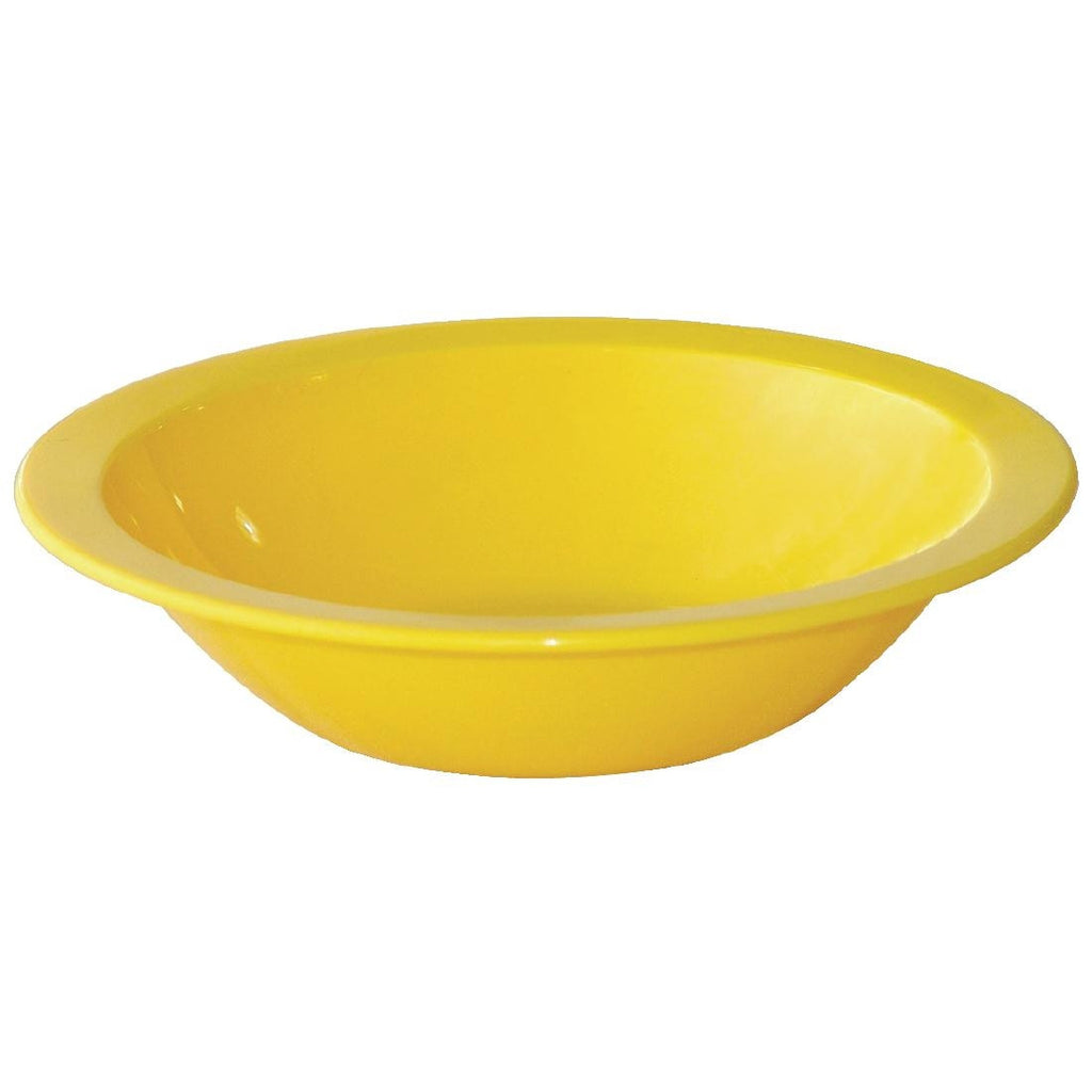 Kristallon Polycarbonate Bowls Yellow 172mm (Pack of 12)