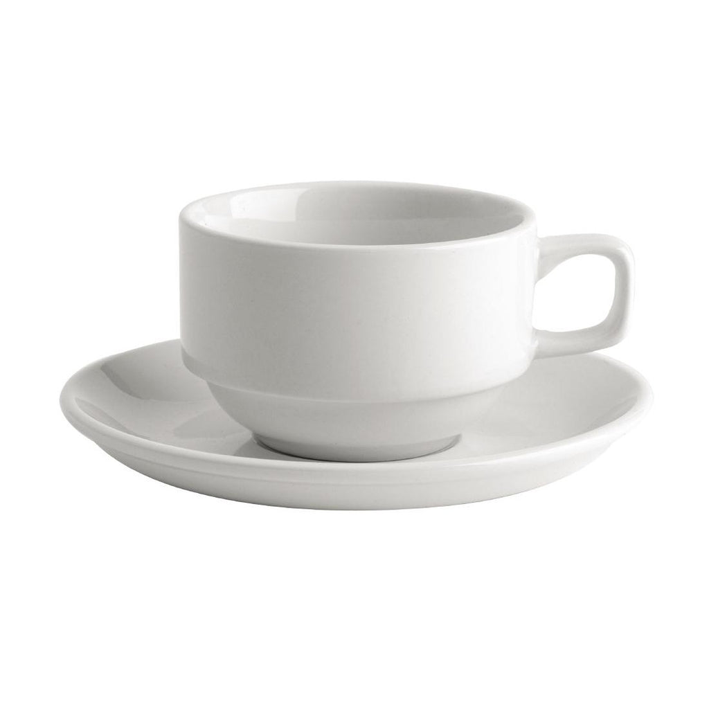 Australian Fine China Bistro Tea Saucers 150mm (Pack of 36)