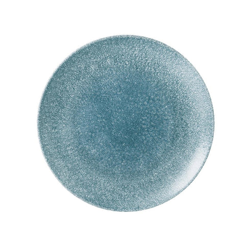 Churchill Studio Prints Raku Large Round Coupe Plate Topaz Blue 288mm (Pack of 12)