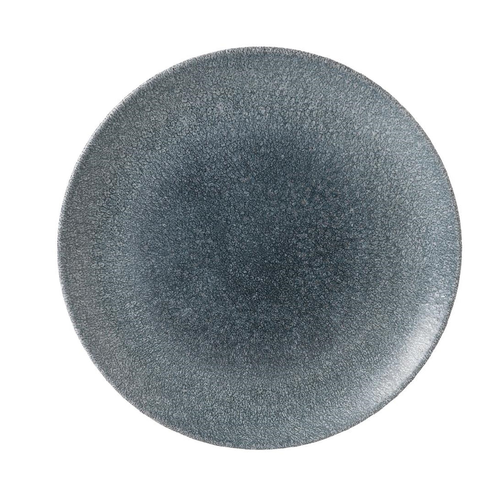 Churchill Studio Prints Raku Round Coupe Plate Topaz Blue 260mm (Pack of 12)