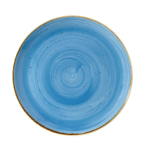 Churchill Stonecast Round Coupe Plate Cornflower Blue 260mm (Pack of 12)