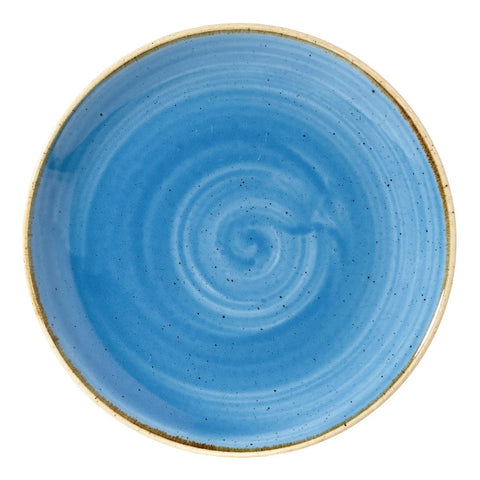 Churchill Stonecast Round Coupe Plate Cornflower Blue 165mm (Pack of 12)