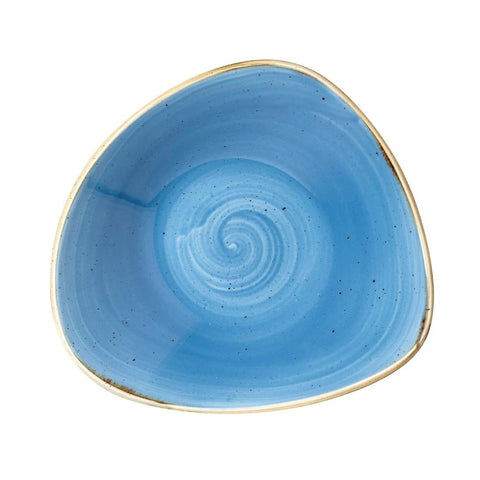 Churchill Stonecast Triangle Bowl Cornflower Blue 235mm (Pack of 12)