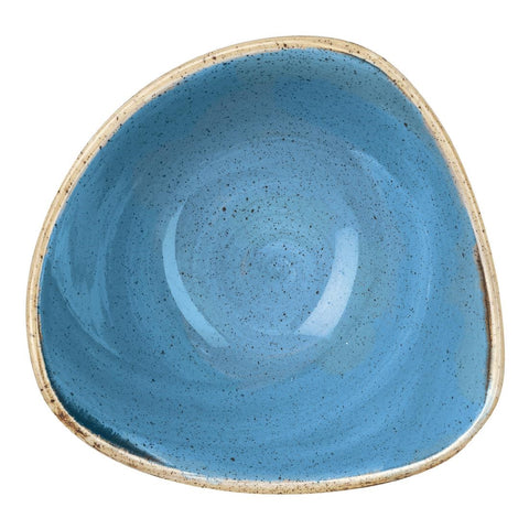Churchill Stonecast Triangle Bowl Cornflower Blue 184mm (Pack of 12)
