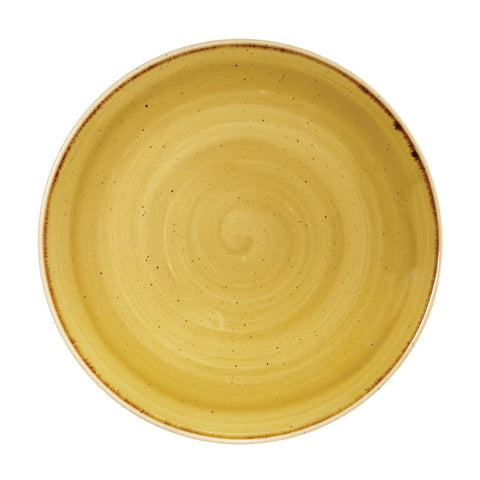 Churchill Stonecast Round Coupe Plate Mustard Seed Yellow 260mm (Pack of 12)