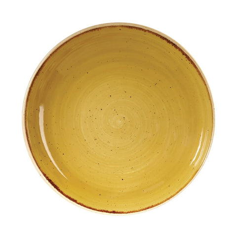 Churchill Stonecast Round Coupe Bowl Mustard Seed Yellow 248mm (Pack of 12)