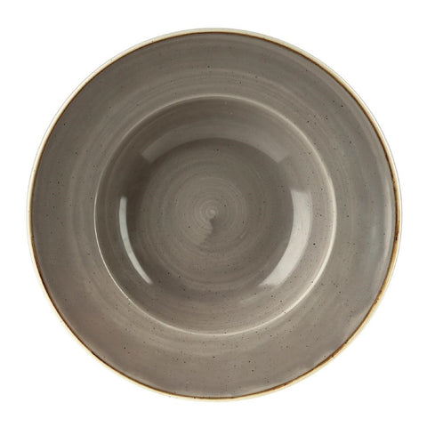 Churchill Stonecast Round Wide Rim Bowl Peppercorn Grey 277mm (Pack of 12)