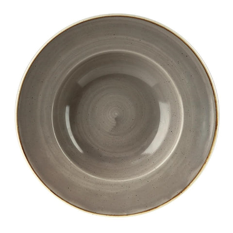 Churchill Stonecast Round Wide Rim Bowl Peppercorn Grey 240mm (Pack of 12)