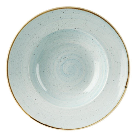 Churchill Stonecast Round Wide Rim Bowl Duck Egg Blue 280mm (Pack of 12)