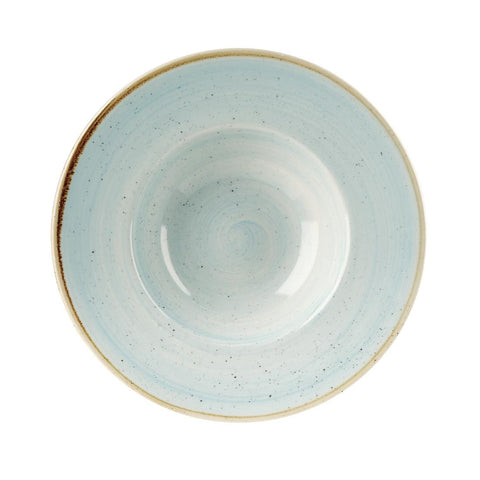 Churchill Stonecast Round Wide Rim Bowl Duck Egg Blue 240mm (Pack of 12)