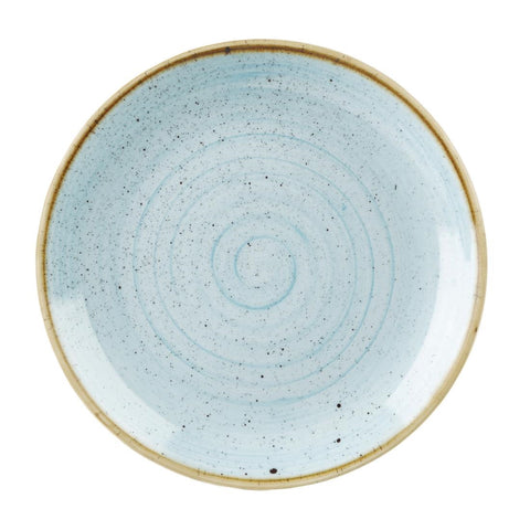 Churchill Stonecast Round Coupe Plate Duck Egg Blue 260mm (Pack of 12)