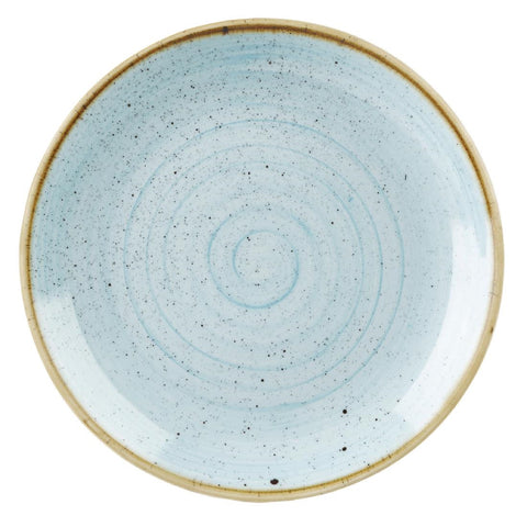 Churchill Stonecast Round Coupe Plate Duck Egg Blue 200mm (Pack of 12)