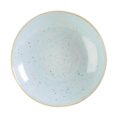 Churchill Stonecast Round Coupe Bowl Duck Egg Blue 315mm (Pack of 6)