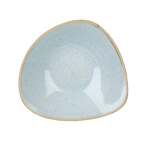 Churchill Stonecast Triangle Bowl Duck Egg Blue 200mm (Pack of 12)