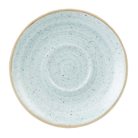 Churchill Stonecast Round Cappuccino Saucers Duck Egg Blue 185mm (Pack of 12)