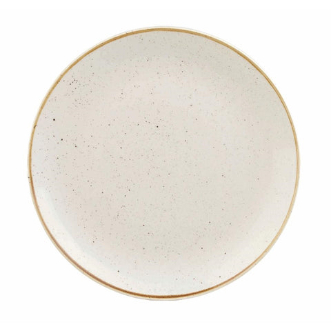 Churchill Stonecast Round Coupe Plate Barley White 260mm (Pack of 12)