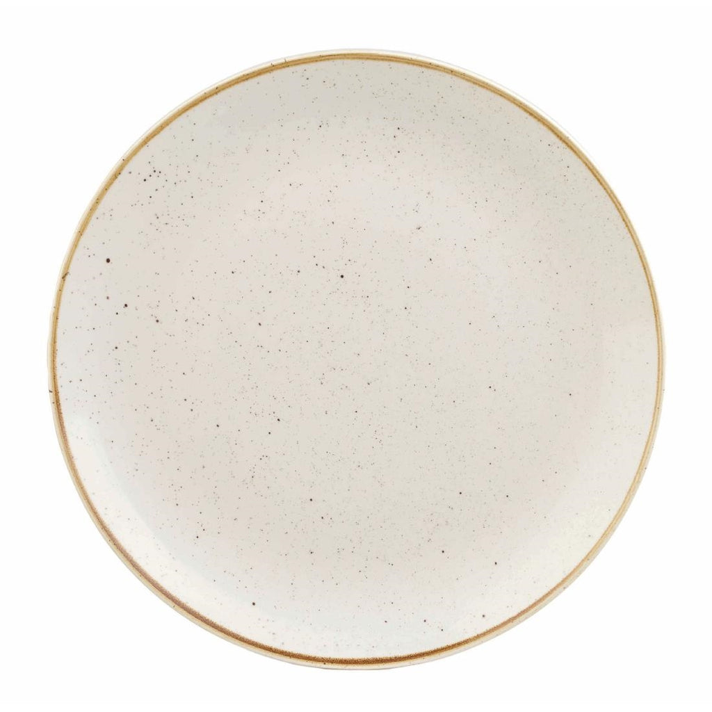 Churchill Stonecast Round Coupe Plate Barley White 185mm (Pack of 12)
