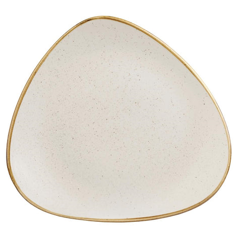 Churchill Stonecast Triangle Plate Barley White 315mm (Pack of 6)