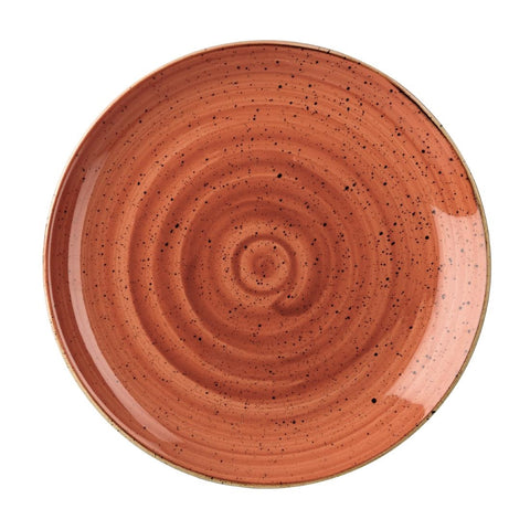 Churchill Stonecast Round Coupe Plate Spiced Orange 295mm (Pack of 12)