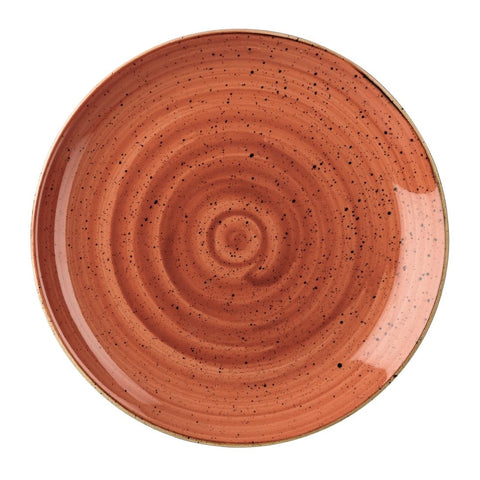 Churchill Stonecast Round Coupe Plate Spiced Orange 200mm (Pack of 12)