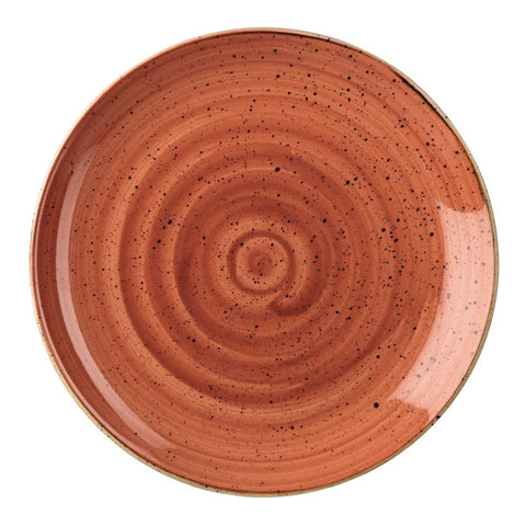 Churchill Stonecast Round Coupe Plate Spiced Orange 185mm (Pack of 12)