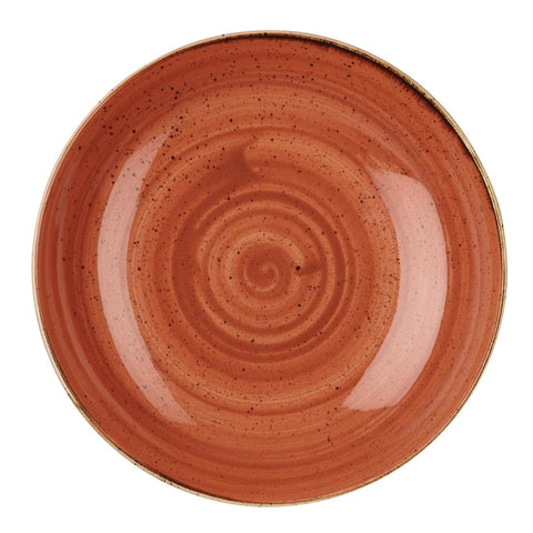 Churchill Stonecast Round Coupe Bowl Spiced Orange 315mm (Pack of 6)