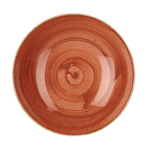 Churchill Stonecast Round Coupe Bowl Spiced Orange 220mm (Pack of 12)