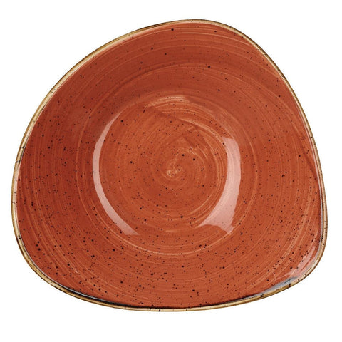 Churchill Stonecast Triangle Bowl Spiced Orange 200mm (Pack of 12)