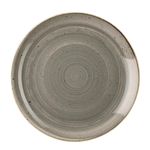 Churchill Stonecast Round Coupe Plate Peppercorn Grey 217mm (Pack of 12)