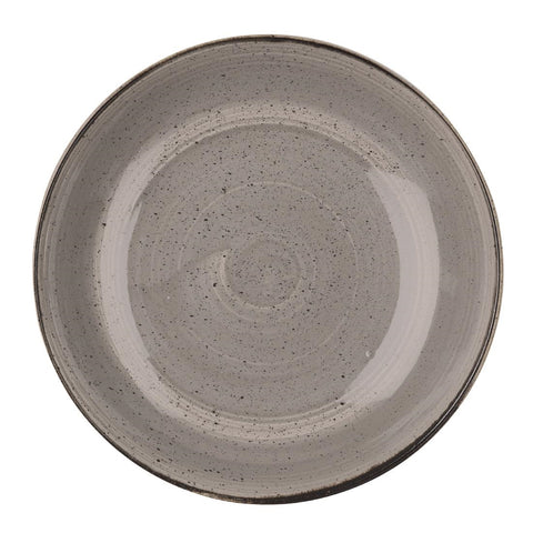 Churchill Stonecast Round Coupe Bowl Peppercorn Grey 315mm (Pack of 6)