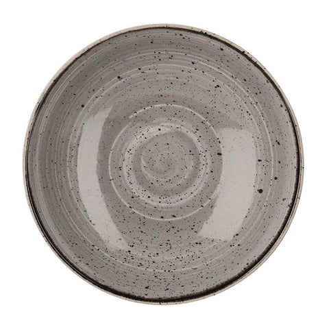 Churchill Stonecast Round Coupe Bowl Peppercorn Grey 200mm (Pack of 12)