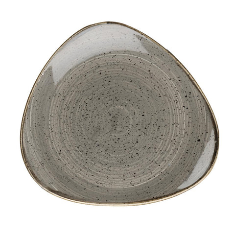Churchill Stonecast Triangle Plate Peppercorn Grey 315mm (Pack of 6)