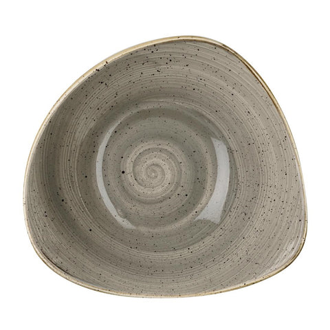 Churchill Stonecast Triangle Bowl Peppercorn Grey 265mm (Pack of 12)