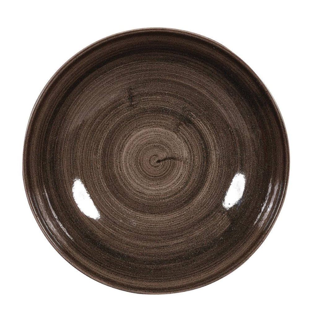 Churchill Stonecast Patina Coupe Plates Black 217mm (Pack of 12)
