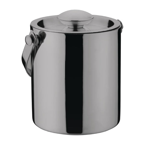 Olympia Double Walled Ice Bucket with Lid 1Ltr Gunmetal
