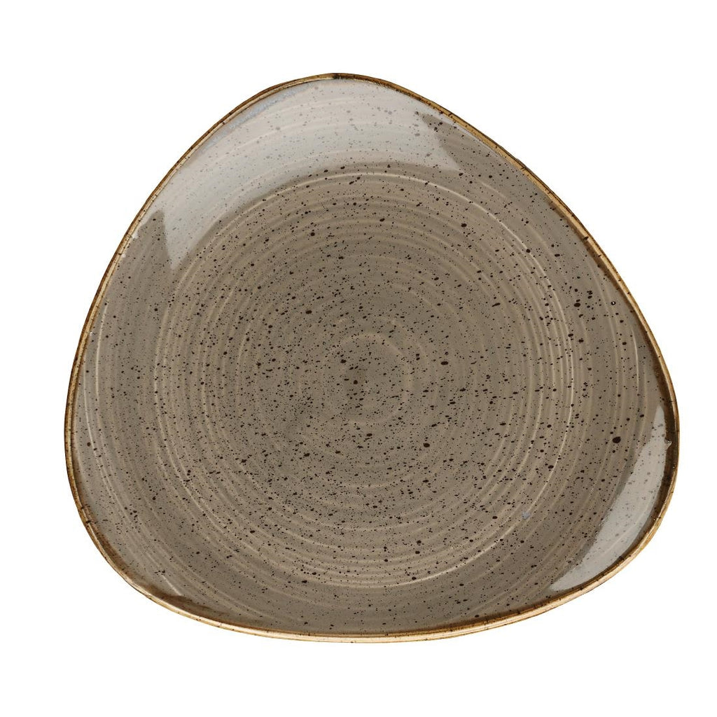 Churchill Stonecast Peppercorn Grey Triangular Plate 265mm (Pack of 12)