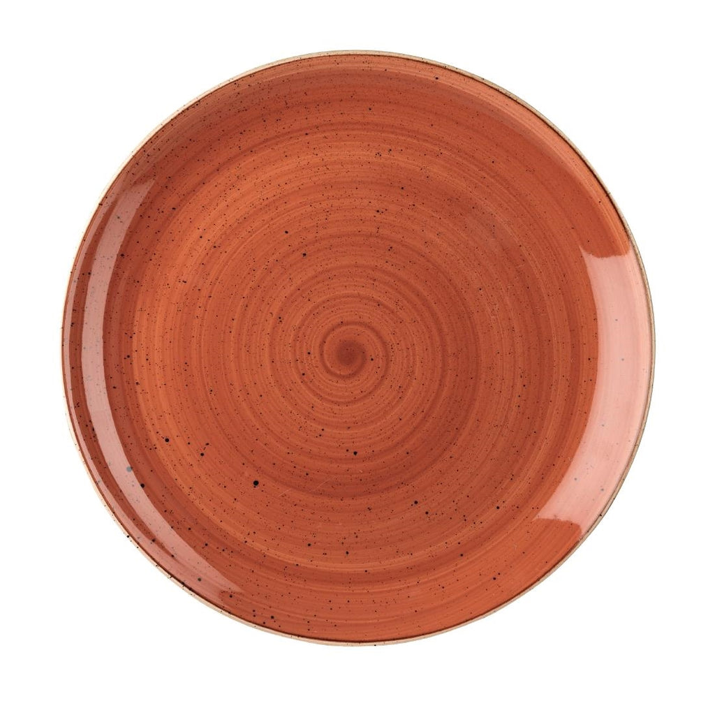 Churchill Stonecast Spiced Orange Round Coupe Plate 324mm (Pack of 6)