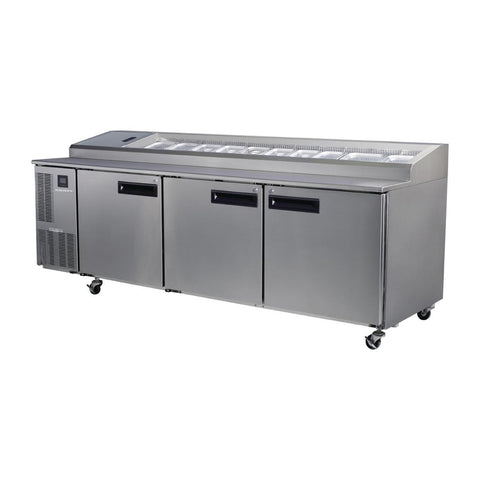 Skope Pegasus 3 Door Gastronorm Pizza Prep Fridge PG800