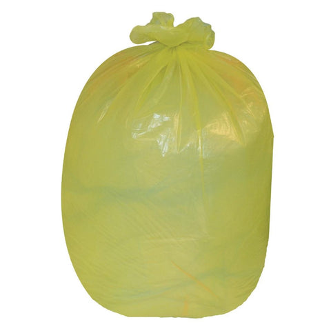 Jantex Garbage Bags Yellow Pack of 200 (Pack of 200)
