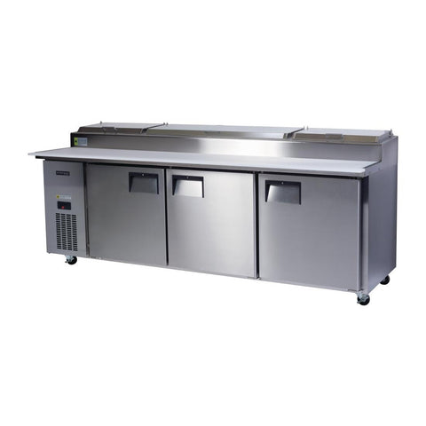 Skope Centaur 3 Door Pizza Prep Counter Fridge